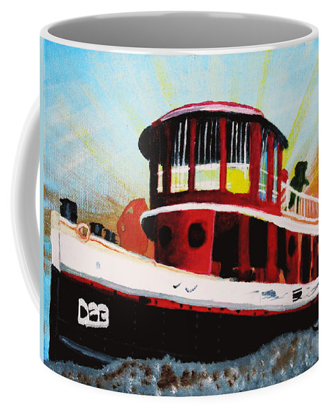 Pier 4 Coffee Mug featuring the painting Fun At Pier 4 by David Bigelow