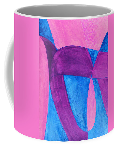 Abstract Coffee Mug featuring the painting Fun In Abstract Word Art by Lee Serenethos