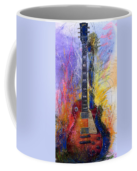 Watercolor Coffee Mug featuring the painting Fun With Les by Andrew King