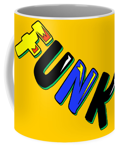 Funk! Funk Pop Art Culture Word Words Concepts Jazz Humour Coffee Mug featuring the digital art Funk by Andy Donald