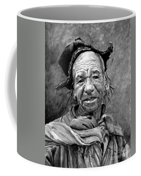 Man Coffee Mug featuring the painting Funky Hat by Portraits By NC