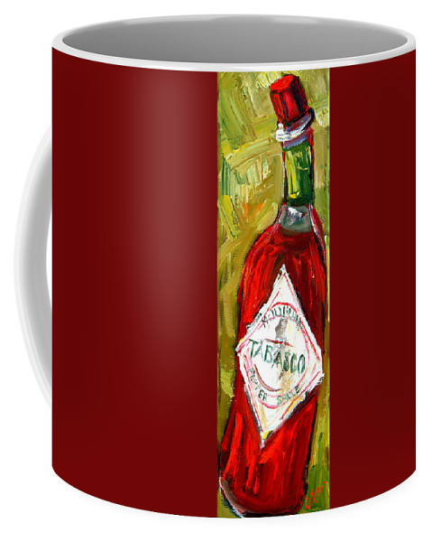 Tabasco Coffee Mug featuring the painting Funky Heat by Carole Foret