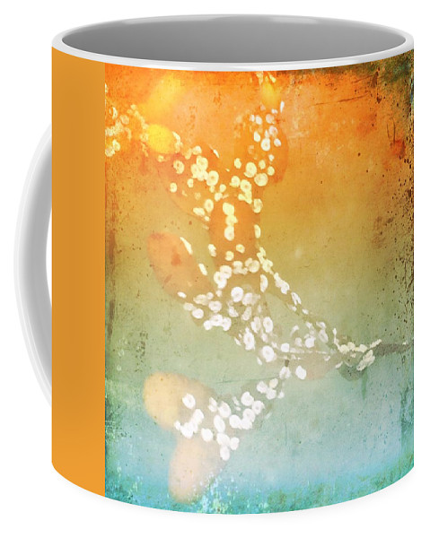 Abstract Coffee Mug featuring the photograph Funky Seaweed by Modern Art