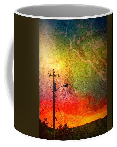 Paint Coffee Mug featuring the photograph Funky Sunset by Tara Turner