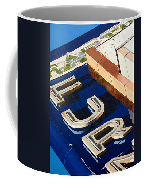 Americana Coffee Mug featuring the painting Furn by Rob De Vries