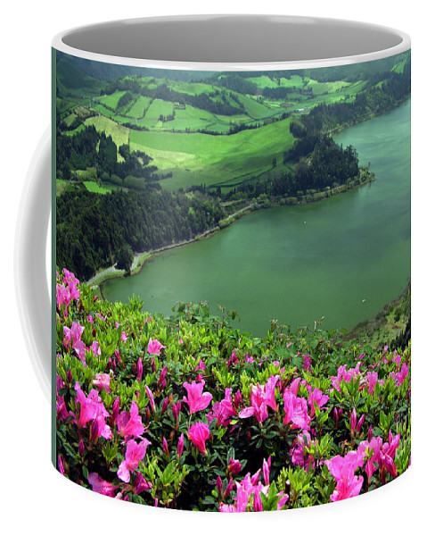 Azaleas Coffee Mug featuring the photograph Furnas Lake Azores by Gaspar Avila
