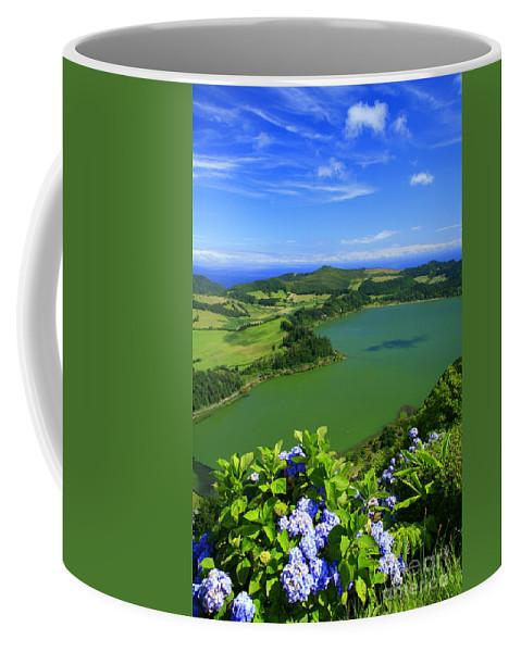 Azores Coffee Mug featuring the photograph Furnas Lake by Gaspar Avila