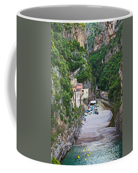 Furore Coffee Mug featuring the photograph Furore Italy by Daryl L Hunter