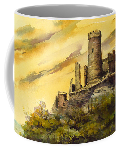 Castle Coffee Mug featuring the painting Furstenburg On The Rhine by Sam Sidders