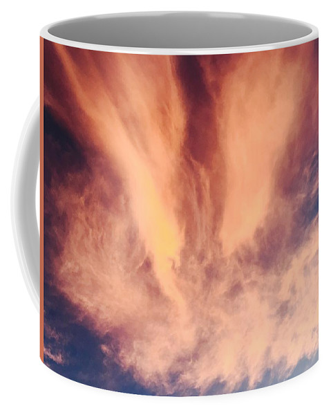 Clouds Cloudscape Sky Sunset Color Colorful Nature Coffee Mug featuring the photograph Fury by Russell Keating