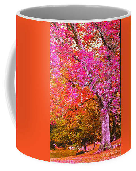 Fuschia Coffee Mug featuring the photograph Fuschia Tree by Nadine Rippelmeyer