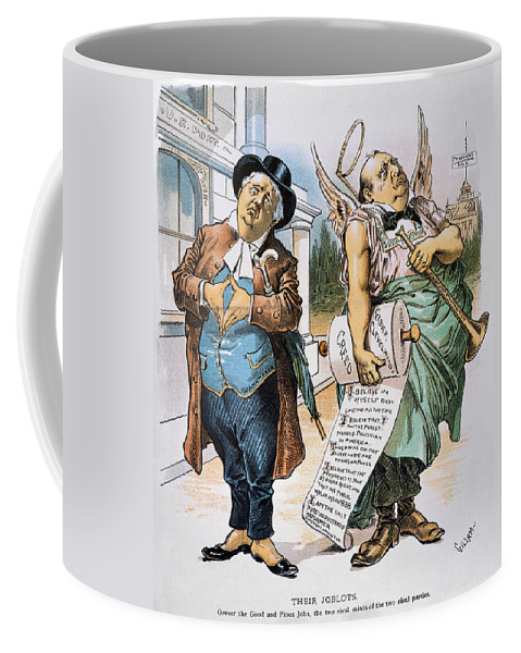 1892 Coffee Mug featuring the photograph G. Cleveland Cartoon, 1892 by Granger