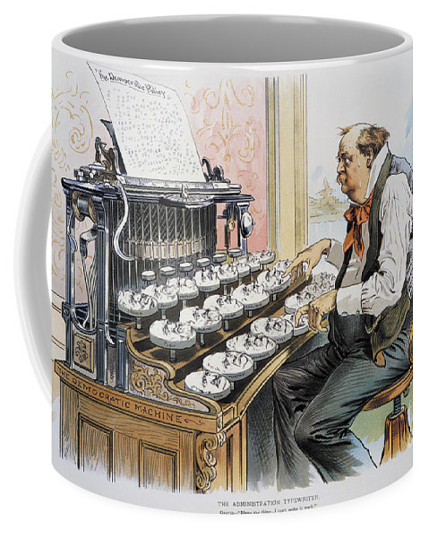 1893 Coffee Mug featuring the photograph G. Cleveland Cartoon, 1893 by Granger