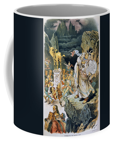 1892 Coffee Mug featuring the photograph G. Cleveland Cartoon by Granger