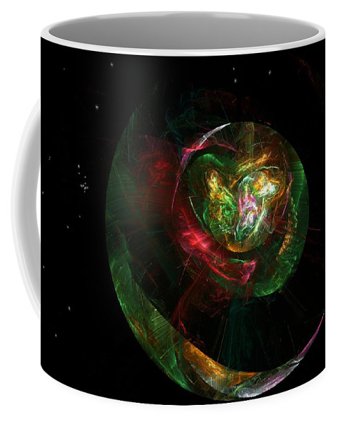 Fantasy Coffee Mug featuring the digital art Gaia Revealed by David Lane