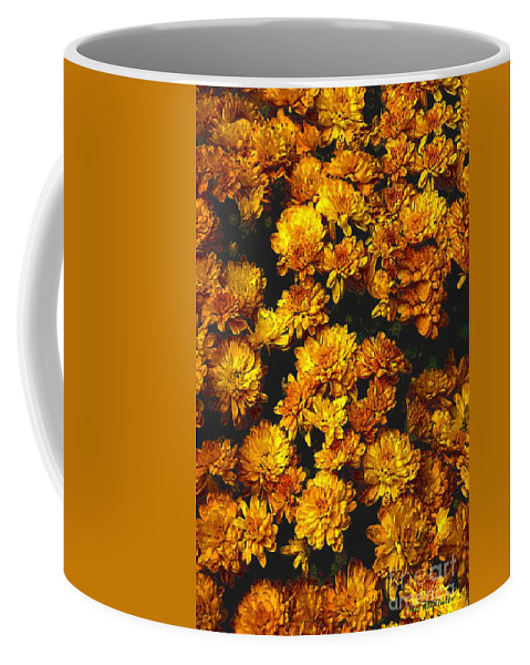 Autumn Coffee Mug featuring the painting Gaia's Gold by RC DeWinter