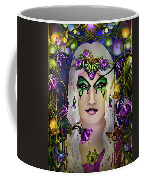 Tolkien Coffee Mug featuring the painting Galadriel by Curtiss Shaffer
