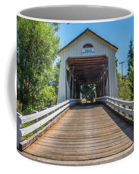 Oregon Coffee Mug featuring the photograph Gallon House Covered Bridge by Matthew Irvin