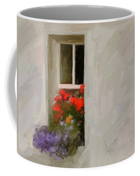 Art Painting Landscape Coffee Mug featuring the digital art Galway Window by Scott Waters