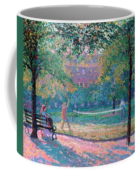 Game Coffee Mug featuring the painting Game Of Tennis by Spencer Frederick Gore