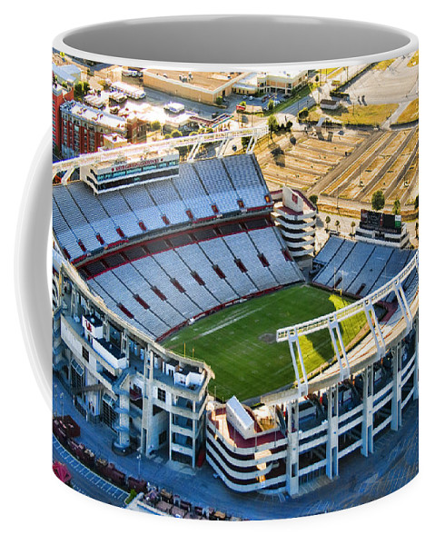 William Brice Stadium Coffee Mug featuring the photograph Gamecock Corral by Steven Richardson