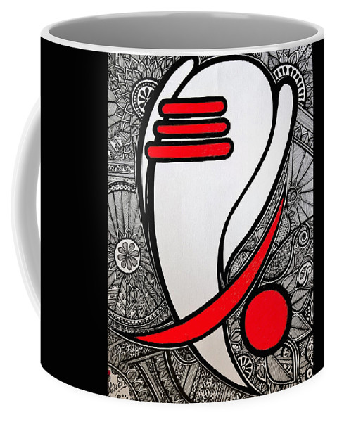 Drawing Coffee Mug featuring the drawing Ganesha_the Elephant God by Seshadri Sreenivasan