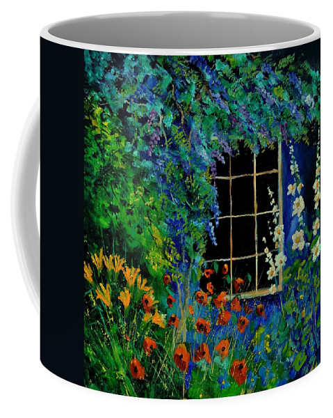 Flowers Coffee Mug featuring the painting Garden 88 by Pol Ledent