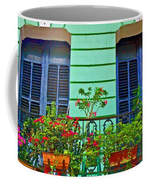 Garden Coffee Mug featuring the photograph Garden Balcony by Debbi Granruth