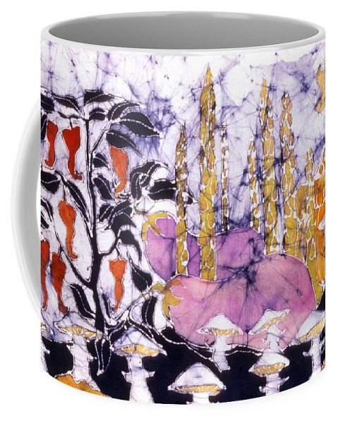 Garden Coffee Mug featuring the tapestry - textile Garden Fest From The Sun by Carol Law Conklin