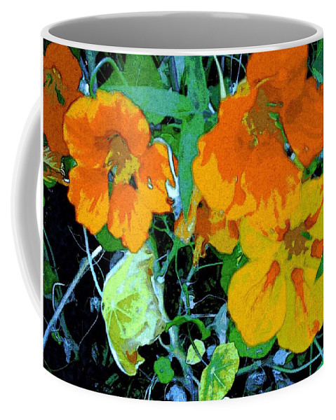 Garden Coffee Mug featuring the digital art Garden Flavor by Winsome Gunning