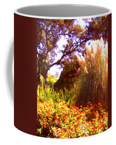 Landscapes Coffee Mug featuring the painting Garden Landscape by Amy Vangsgard