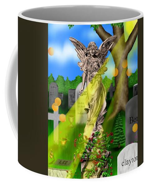 Surrealism Coffee Mug featuring the digital art Garden Landscape III a - Where The Dead Sleep by Robert Morin