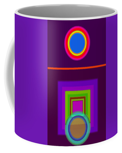 Classical Coffee Mug featuring the digital art Garden Mauve by Charles Stuart