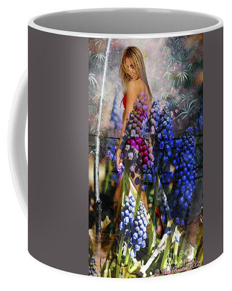 Clay Coffee Mug featuring the photograph Garden Nymph by Clayton Bruster