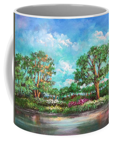 Eden Coffee Mug featuring the painting Summer In The Garden Of Eden by Randy Burns
