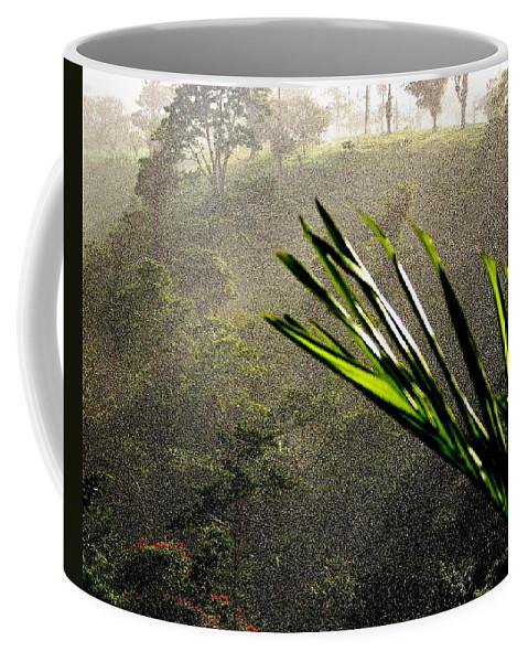 Rain Coffee Mug featuring the photograph Garden Of Eden Rain by Karen Wiles