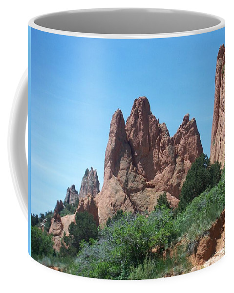 Colorado Coffee Mug featuring the photograph Garden Of The Gods 2 by Anita Burgermeister