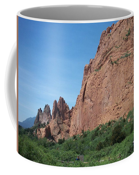 Colorado Coffee Mug featuring the photograph Garden Of The Gods by Anita Burgermeister