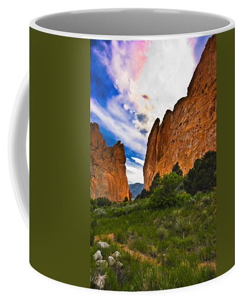 Colorado Coffee Mug featuring the photograph Garden Of The Gods by Ches Black