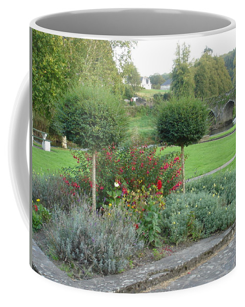 Inistioge Coffee Mug featuring the photograph Garden On The Banks Of The Nore by Kelly Mezzapelle