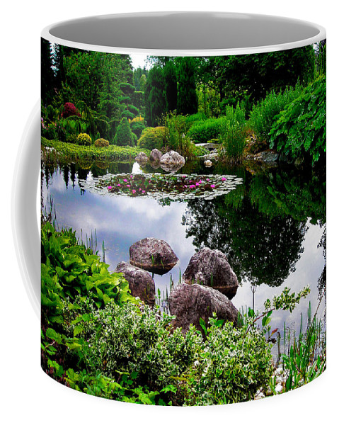 Garden Coffee Mug featuring the photograph Garden Reflections ... by Juergen Weiss