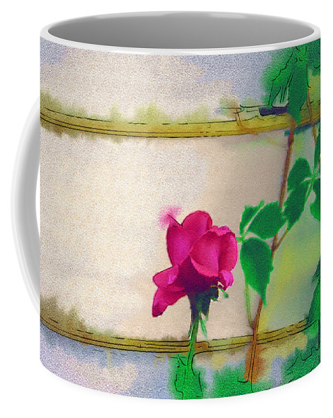 Rose Coffee Mug featuring the digital art Garden Rose by Holly Ethan
