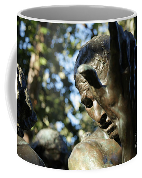 Sculpture Coffee Mug featuring the painting Garden Sculpture by Dean Triolo