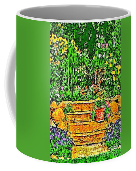 Garden Coffee Mug featuring the painting Garden Sketches 1 by B W Tyler