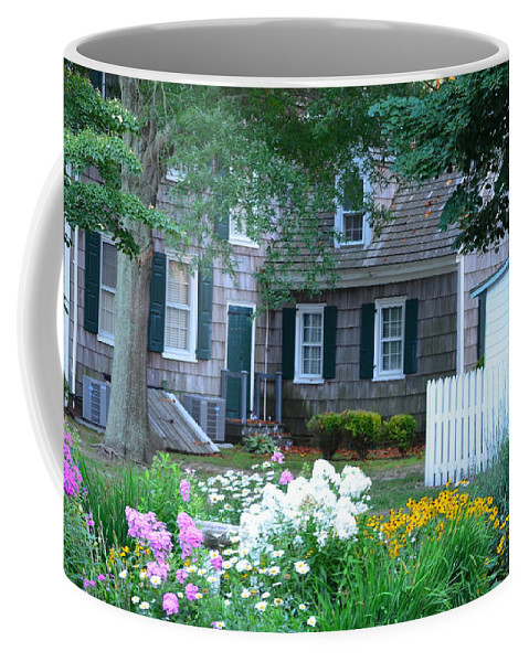Garden Coffee Mug featuring the photograph Gardens At The Burton-ingram House - Lewes Delaware by Kim Bemis