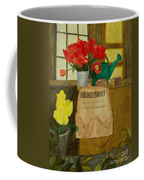 Tulips Coffee Mug featuring the painting Gardner by Louise Magno