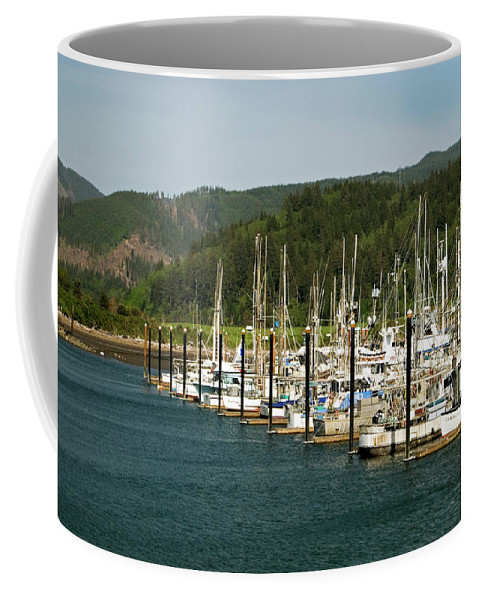 Oregon Coffee Mug featuring the photograph Garibaldi Oregon Marina by Renee Hong