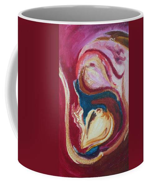 Oil Painting Coffee Mug featuring the painting Garlic by Suzanne Udell Levinger