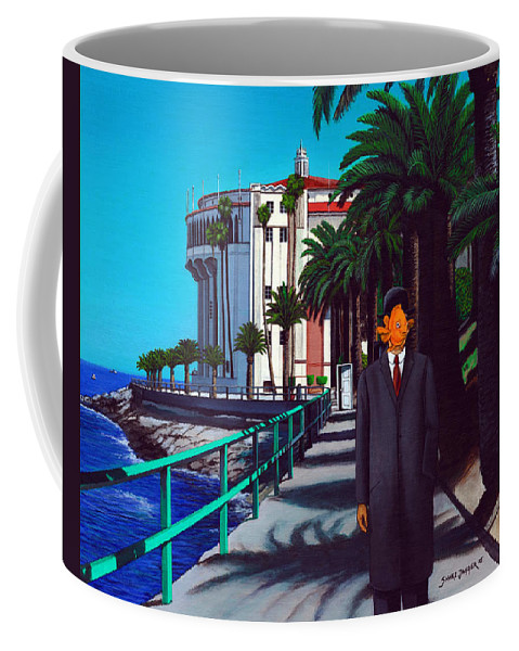 Catalina Coffee Mug featuring the painting Gary Baldie by Snake Jagger