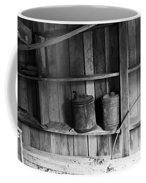 Gas Coffee Mug featuring the photograph Gas Cans by Douglas Barnett